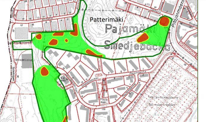 Liito-oravan ydinalueet Pajamäessä 2020
